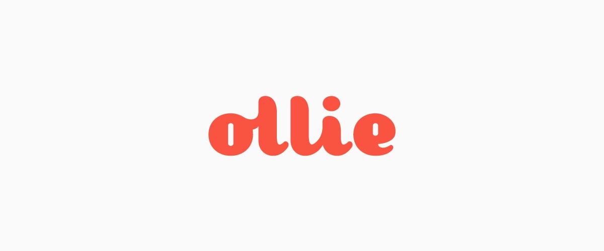 品牌设计公司以鲜活的红色作为ollie形象标志设计的核心色彩,强调温暖